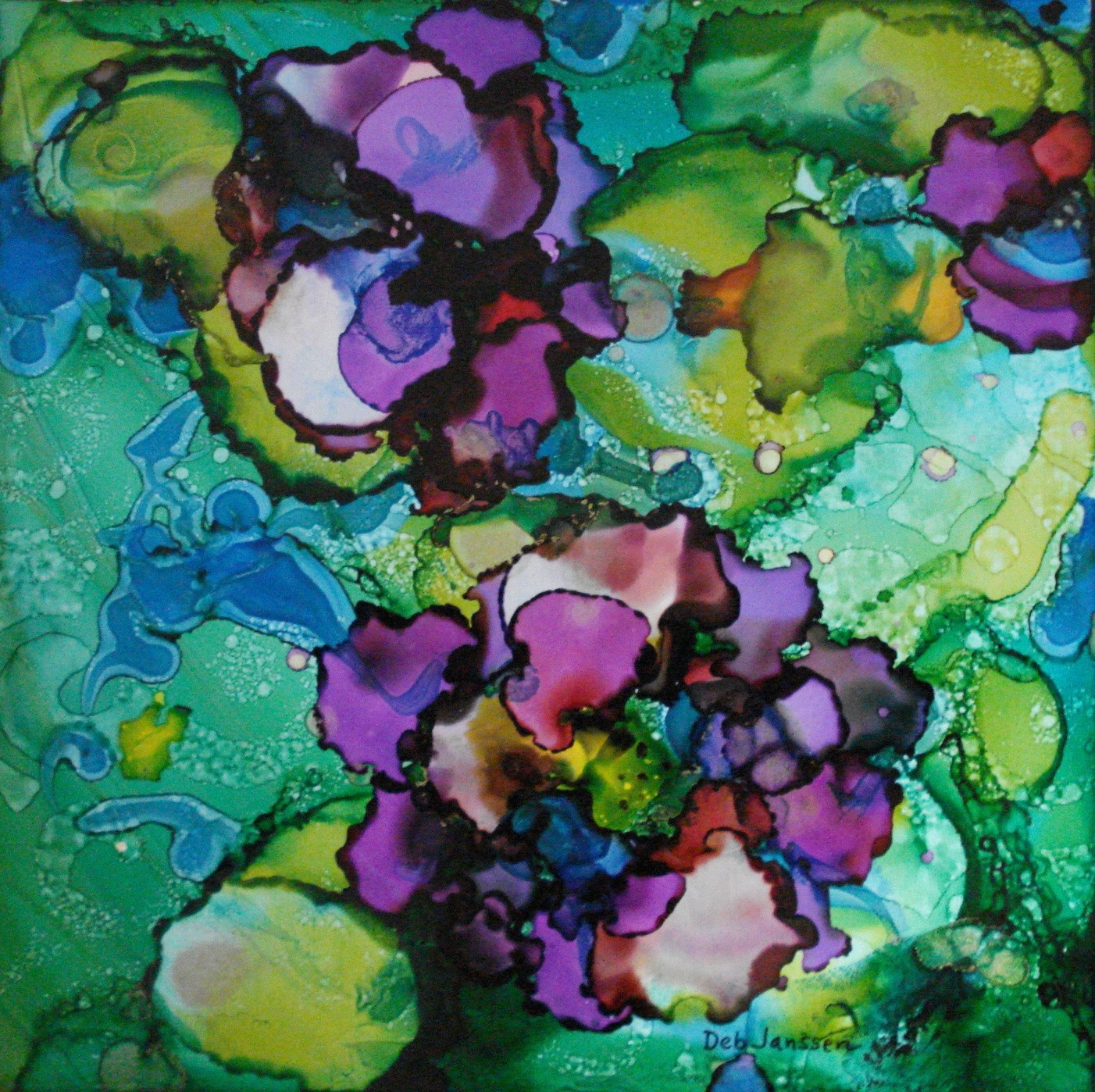 Encaustic Art, Alcohol Inks and Collage – Playful Art